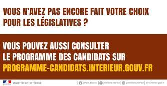 lections lgislatives les programmes des candidats seront aussi sur internet